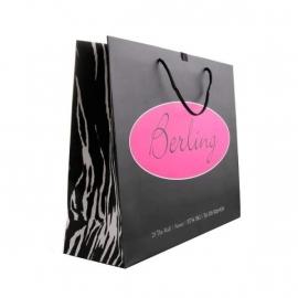 Printed Luxury Matt Rope Handle Paper Bags With Zebra Print - Ref. Berling