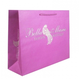 Pink Recycled Paper Bags With Rope Handles - Ref. Bella Marie