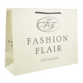 Recycled Cream Paper Bags With Rope Handles - Ref. Fashion Flair