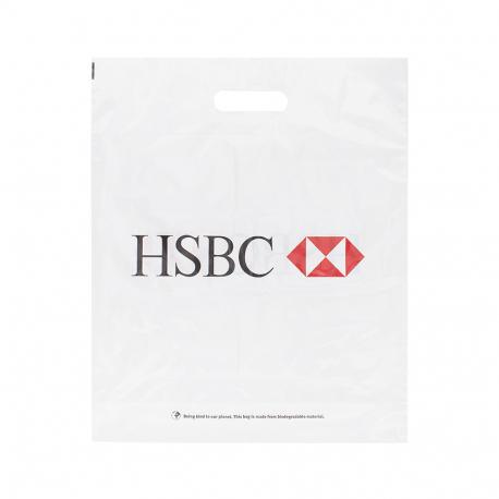 Printed Plastic Carrier Bag Ref HSBC