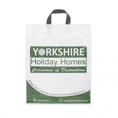 Printed Plastic Carrier Bag Ref Yorkshire Holiday Homes