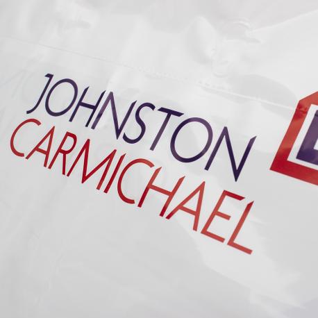 Printed Flexi-Loop Handle Carrier Bag Ref Johnston Carmichael