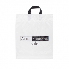 Printed Flexi-Loop Handle Carrier Bag Ref Anne Furbank