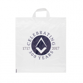 Printed Flexi-Loop Handle Carrier Bag Ref Freemasons