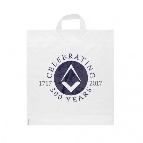 Printed Flexi-Loop Handle Carrier Bag Ref Freemasons