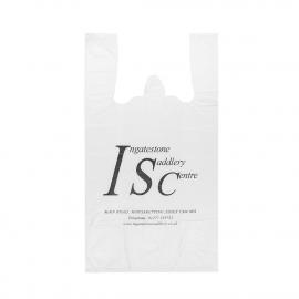 Printed Plastic Carrier Bag Ref Ingatestone Saddlery