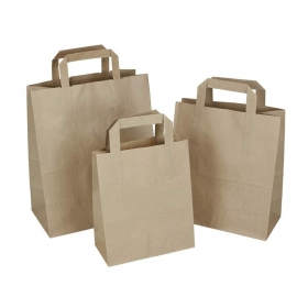 Brown Paper Sandwich Bags - Paper Take-away Bags