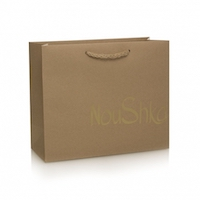 Brown recycled paper bag with rope handle